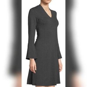 🆕️Neiman Marcus Charcoal Gray Self-tie Dress